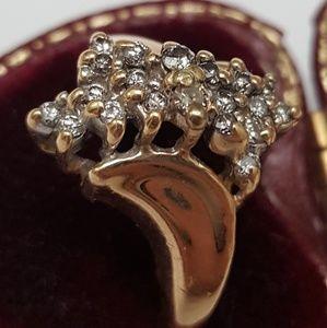 Jewelry - Estate 14k yellow gold .75ct diamonds ring Vintage